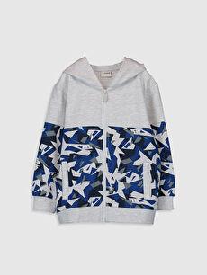 Gri Erkek Çocuk Fermuarlı Kapüşonlu Sweatshirt 0S3635Z4 LC Waikiki