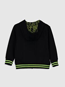 %67 Pamuk %33 Polyester Kapüşon Yaka İki İplik Düz Spor Hırka Erkek Çocuk Fermuarlı Kapüşonlu Sweatshirt