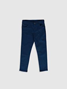 Lacivert Erkek Çocuk Super Slim Gabardin Pantolon 0S4883Z4 LC Waikiki