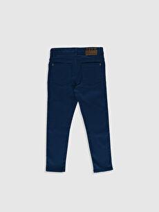 %66 Pamuk %30 Poliester %4 Elastane Dar Normal Bel Erkek Çocuk Super Slim Gabardin Pantolon