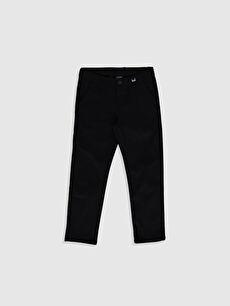 Erkek Çocuk Armürlü Slim Pantolon