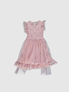 Pembe Kız Çocuk Tül Elbise 0S4977Z4 LC Waikiki