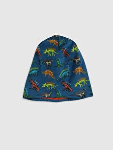 Mavi Erkek Çocuk Dinazor Baskılı Triko Bere 0S6556Z4 LC Waikiki