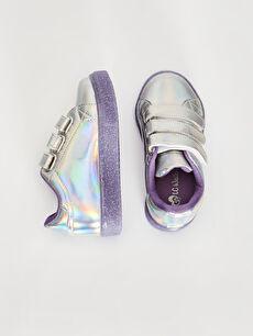%0 Diğer malzeme (pvc) Sneaker Polyester Astar Cırt Cırt Tabanı Işıklı Kız Çocuk Cırt Cırtlı Günlük Ayakkabı