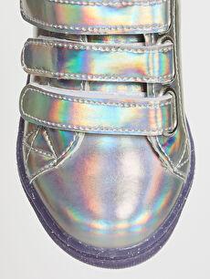 LC Waikiki Gri Kız Çocuk Cırt Cırtlı Günlük Ayakkabı