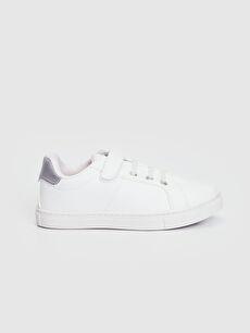 %0 Diğer malzeme (pvc) Polyester Astar Sneaker Bağcık Işıksız Kız Çocuk 25-30 Numara Cırt Cırtlı Günlük Ayakkabı