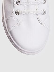 Beyaz Kız Çocuk 25-30 Numara Cırt Cırtlı Günlük Ayakkabı