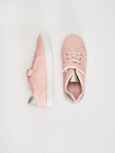 %0 Diğer malzeme (pvc) Polyester Astar Bağcık ve Cırt Cırt Sneaker Işıksız Kız Çocuk 31-38 Numara Cırt Cırtlı Günlük Ayakkabı