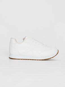 Beyaz Kız Çocuk Bağcıklı Günlük Ayakkabı 0S8239Z4 LC Waikiki