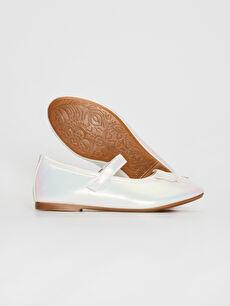 Kız Çocuk Kız Çocuk Fiyonk Detaylı Cırt Cırtlı Babet Ayakkabı