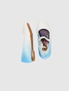 %0 Tekstil malzemeleri (%100 poliester)  Kız Çocuk Frozen Baskılı Babet Ayakkabı