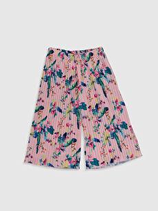 Pembe Kız Çocuk Pileli Pantolon 0S9543Z4 LC Waikiki
