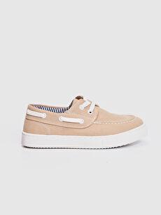 %0 Tekstil malzemeleri (%56 pamuk,%35 poliester,%9 viskoz) Klasik Ayakkabı Bağcık Işıksız Erkek Çocuk 31-38 Numara Bağcıklı Bez Ayakkabı
