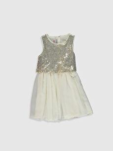 Kız Çocuk Kız Çocuk Pul Payet İşlemeli Elbise