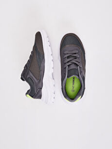 %0 Diğer malzeme (pvc) %0 Tekstil malzemeleri (%100 poliester)  Erkek Çocuk Kalın Taban Spor Ayakkabı