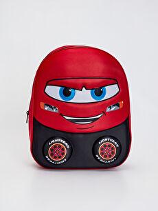 Kırmızı Erkek Çocuk Arabalar Baskılı Sırt Çantası 0SI634Z4 LC Waikiki