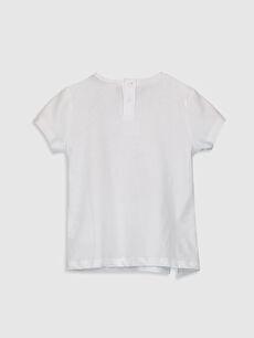 %100 Pamuk Standart Baskılı Tişört Bisiklet Yaka Kısa Kol Kız Bebek Mickey Mouse Baskılı Pamuklu Tişört