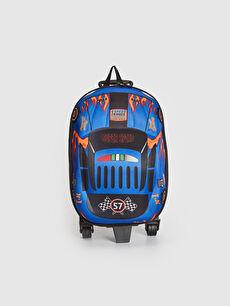 Mavi Erkek Çocuk Araba Silüetli Çekçekli Çanta 0SJ994Z4 LC Waikiki