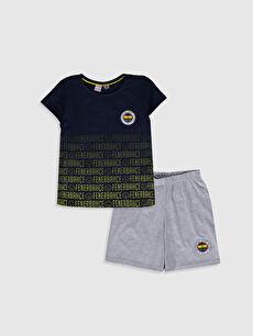 Aile Koleksiyonu Kız Çocuk Fenerbahçe Amblemli Pamuklu Pijama Takımı