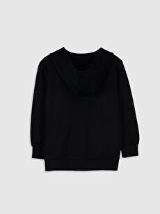 %68 Pamuk %32 Polyester  Erkek Çocuk Fermuarlı Kapüşonlu Sweatshirt