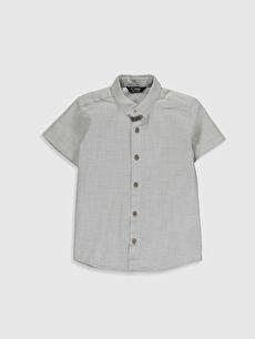 Erkek Çocuk Desenli Pamuklu Gömlek
