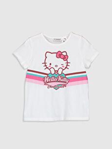 Kız Çocuk Hello Kitty Baskılı Pamuklu Tişört