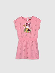 Kız Çocuk Limon Baskılı Pamuklu Elbise