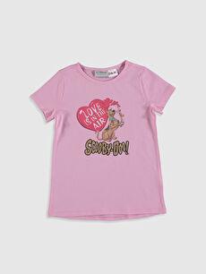 Kız Çocuk Scooby-Doo Baskılı Pamuklu Tişört