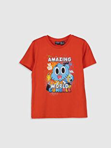 Erkek Çocuk Gumball Baskılı Pamuklu Tişört
