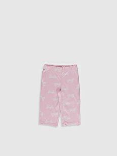 %100 Pamuk Kız Çocuk Barbie Baskılı Pamuklu Pijama Takımı