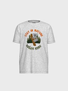 Erkek Çocuk Baskılı Pamuklu Tişört