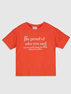 Kız Çocuk Yazı Baskılı Pamuklu Tişört