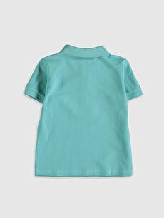 %100 Pamuk Normal Düz Kısa Kol Tişört Polo Erkek Bebek Polo Yaka Basic Tişört