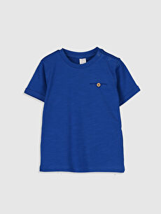 Mavi Erkek Bebek Basic Pamuklu Tişört 0S0332Z1 LC Waikiki