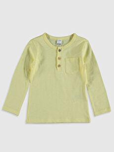 Sarı Erkek Bebek Basic Pamuklu Tişört 0S0333Z1 LC Waikiki