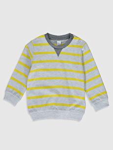 Sarı Erkek Bebek Çizgili Sweatshirt 0S0356Z1 LC Waikiki
