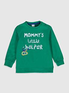 Yeşil Erkek Bebek Kalın Sweatshirt 0S0357Z1 LC Waikiki