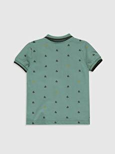 %100 Pamuk Baskılı Kısa Kol Tişört Polo Normal Erkek Bebek Baskılı Tişört