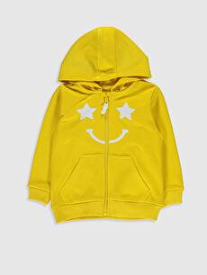 Sarı Erkek Bebek Fermuarlı Sweatshirt 0S0388Z1 LC Waikiki