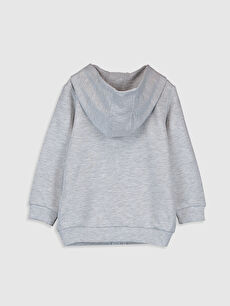 %50 Pamuk %50 Polyester  Erkek Bebek Kapüşonlu Sweatshirt