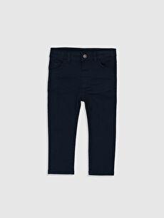Lacivert Erkek Bebek Slim Fit Gabardin Pantolon 0S1118Z1 LC Waikiki