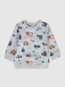 Erkek Bebek Erkek Bebek Baskılı Sweatshirt 2'li