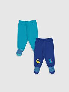 Erkek Bebek Çoraplı Pijama Alt 2'li