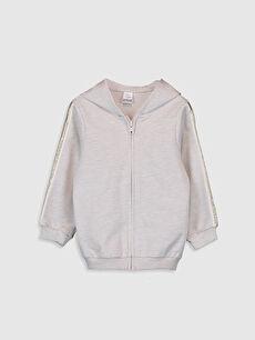 Kız Bebek Fermuarlı Sweatshirt