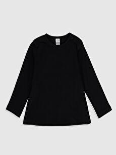 Siyah Kız Bebek Basic Pamuklu Tişört 0S1966Z1 LC Waikiki