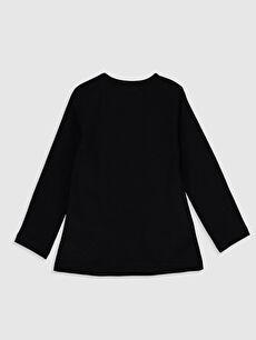 %100 Pamuk Standart Düz Uzun Kol Tişört Bisiklet Yaka Kız Bebek Basic Pamuklu Tişört