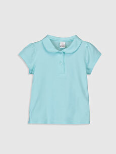 Yeşil Kız Bebek Pamuklu Basic Tişört 0S1973Z1 LC Waikiki