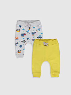 Sarı Erkek Bebek Pantolon 2'li 0S2080Z1 LC Waikiki