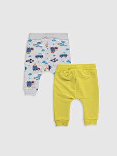 %95 Pamuk %5 Elastan  Erkek Bebek Pantolon 2'li