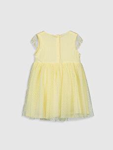 %100 Polyester %100 Pamuk Uzun Düz Kız Bebek Tül Elbise